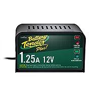 Battery Tender Plus 021-0128, 1.25 amp. El cargador de batería es un cargador inteligente, se cargará completamente y mantendrá una batería con el voltaje de almacenamiento adecuado sin los efectos dañinos causados por los cargadores de goteo