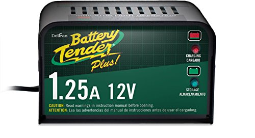 (Battery Tender Plus 021-0128, 1.25 Amp Battery Charger is a Smart Charger, it will Fully Charge and Maintain a Battery at Proper Storage Voltage without the Damaging Effects Caused by Trickle Chargers)