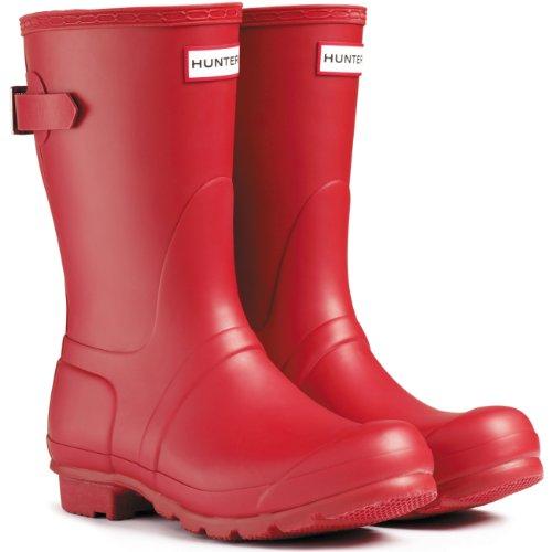 Hunters–Original Short Gloss Gummistiefel, Unisex Rosso(Reds)
