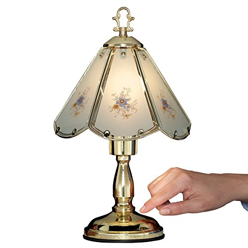 On A Floral Table Lamp (Floral Glass Table Touch Lamp)