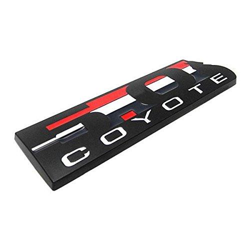 Black 5.0 COYOTE Fender Badge for Ford Mustang Door Metal Emblem Refiting Sticker Styling Racing Tuning Decal Cover (Styling Tuning Racing)