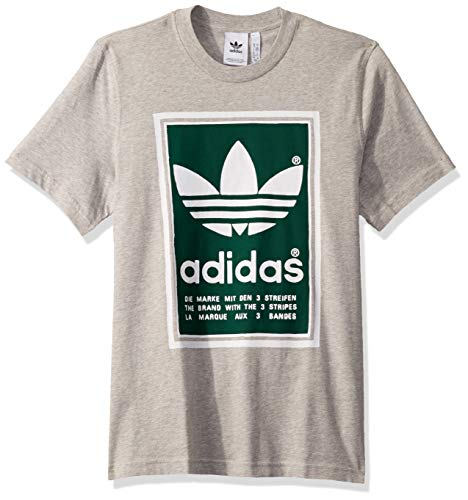 - adidas Originals Men's Filled Label Sweatshirt, Medium Grey Heather/Collegiate Green, XX-Large