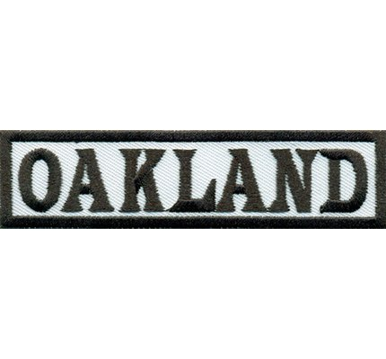 Oakland Biker MAYANS Rider Rocker Rankpatch Motorcycle Iron on Patch -