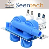 285805 Water Inlet Valve with Mounting Bracket for Clothes Washer by Seentech - Works Exact Fit for Whirlpool, Kenmore Replaces AP3094541, 285805 VP, 292197, 3349451, 3354565, 3360387, 3360388