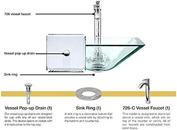 Crystal Clear Glass Vessel Sink