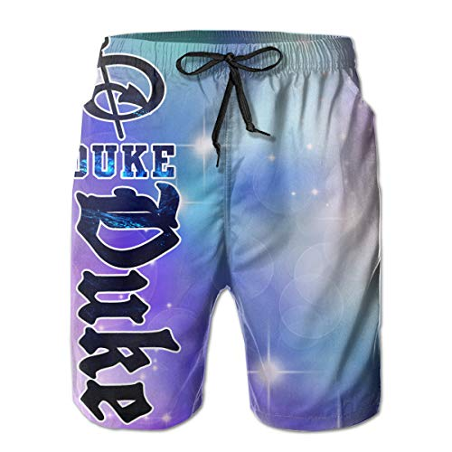 - WWT Duke Blue Devils Men's Printed Funny Swim Trunks with Mesh Lining/Side Pockets