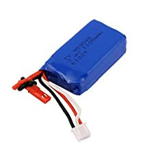 uxcell® 7.4V 1100mAh Rechargeable Li-ion Lithium Battery for WL V353 RC Helicopter