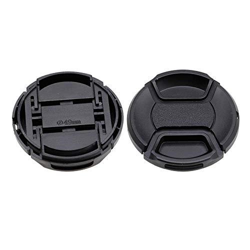 WEKA Camera Lens Cap Cover Durable Plastic for Camera Snap Lens Accessories Black---49MM ()
