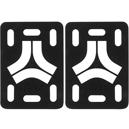 """Destructo Black Skateboard Riser Pads - 1/8"""""""