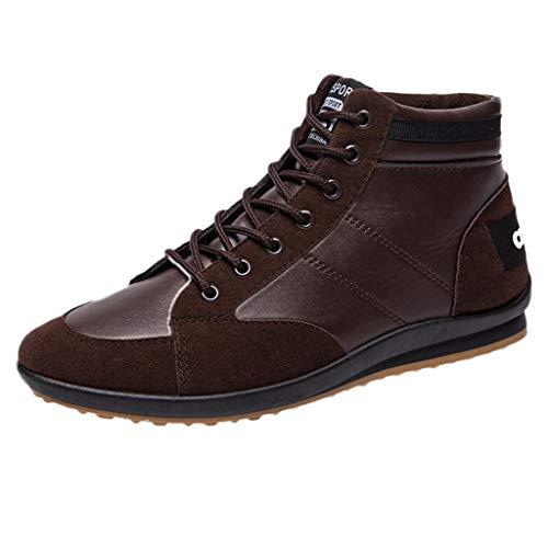 Men's Four Seasons Casual Shoes,LuluZanm Retro Shoes Ankle Boots Fashion Shoes Flats for $<!--$19.63-->