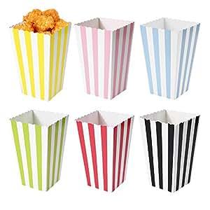 Amazon.com : Flamingo Bonut Popcorn Box 12Pcs Favor Candy Treat Popcorn Boxes for Wedding Party ...
