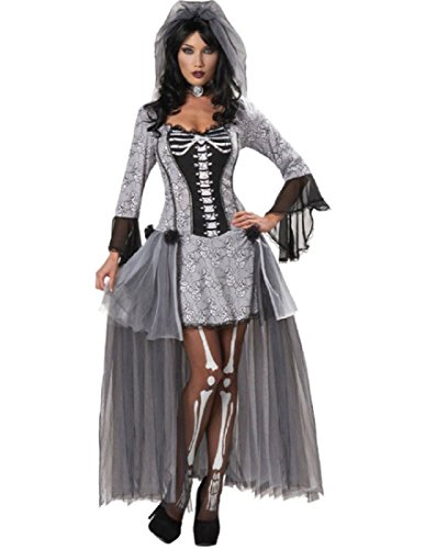 Morris Costumes Skeleton Bride Adult Medium -