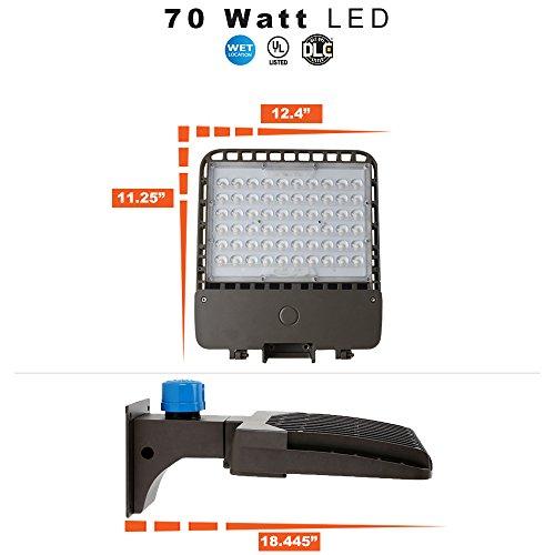 LED Parking Lot / Area Light - Pole Mount with Photocell - 70 Watt and 5000K - Parking Light Pole