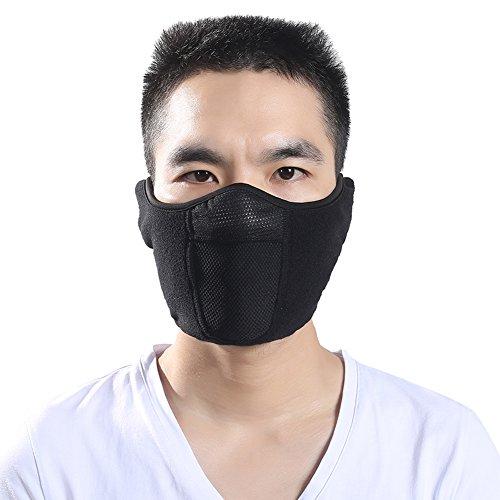 edd7c90401d Windproof Balaclava Fleece Hood with Neck Cover Half Face Ski Mask with Air  Hole (Half