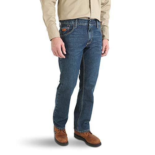 - Wrangler Men's FR Flame Resistant Slim Boot Cut Jean, Tint Dark, 32x32