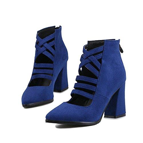 e fighi ferro alti moda stivali di stivali stivali di Sandalette fighi blu cavallo i fighi trentotto affilato tacchi DEDE a8HaPq6n