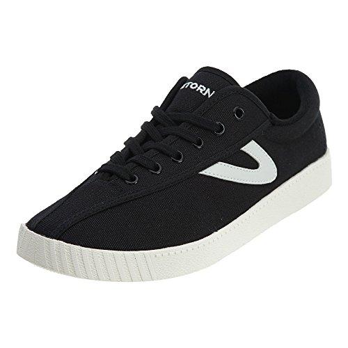Tretorn Women's Nylite Plus Black/Black/White Sneaker 8.5 B (M)