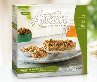 Melaleuca Attain Bars Sweet & Salty Nut, 6 Bars