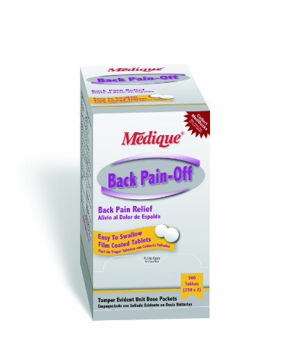 Medique Products 07313 Back Pain-Off Back Pain Relief Tablets, 250-Packets of 2