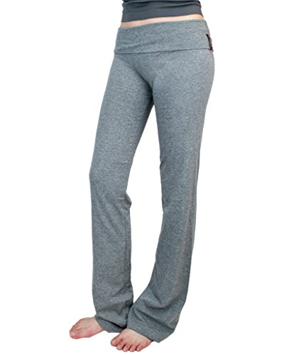 Active New Yoga Athletic Foldover Stretch Comfy Lounge Flare Fit Pants Tredns SNJ