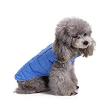 Pet Dog Color Double Sides Zipper Autumn and Winter Warm Waterproof Windproof Down Jacket Cotton-Padded Coat Cloth Vest