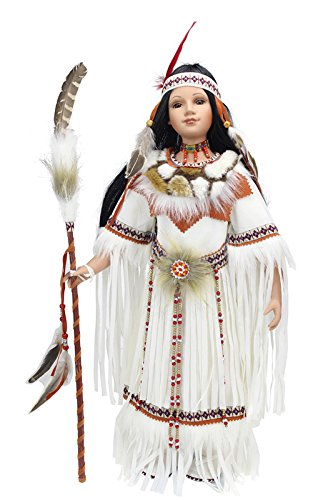 "Kinnex Collections 24"" Collectible Native American (Indian) Porcelain Doll -Desert Spirit-D24636"