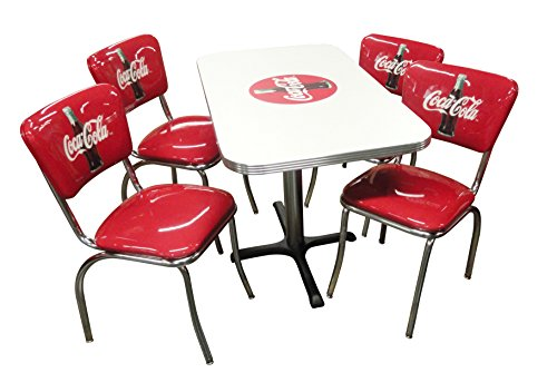 Vitro Seating Products CCRTC-4 Coca-Cola Dinette Furniture Set with 24