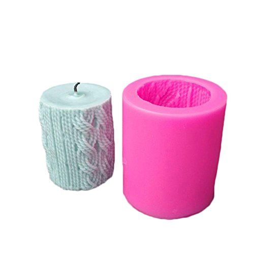 DIY 3D Silicone Candle Mold Clay Craft Mold Aroma Candle Gypsum Mold (Color Random)