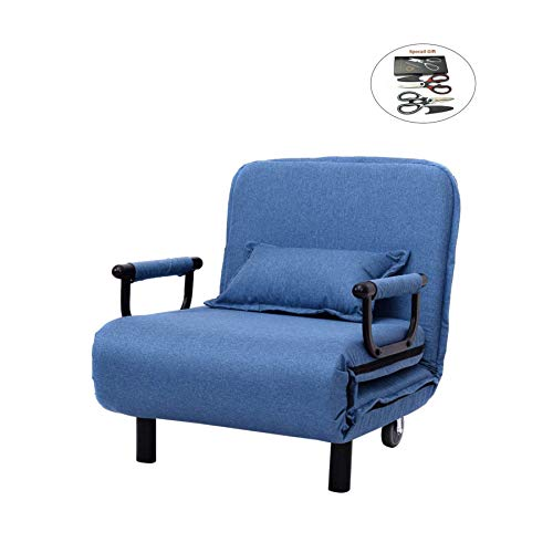 Folding Convertible Sofa Bed Arm Chair Sleeper Leisure Recli