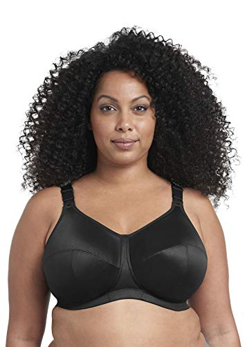 Goddess Women's Plus Size Celeste Soft Cup Full Coverage Wireless Comfort Bra, Black, 50K