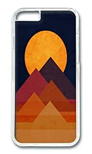 Apple Iphone 6 Case,WENJORS Awesome Full moon and pyramid Hard Case Protective Shell Cell Phone Cover For Apple Iphone 6 (4.7 Inch) - PC Transparent