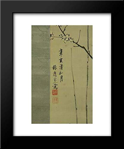 Yamamoto Baiitsu - 15x18 Framed Museum Art Print- Hanging Scroll (Yamamoto Print)