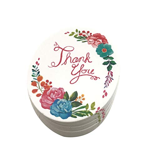 TOYANDONA 50PCS Baking Packaging Decorative Labels Flowers Garden Hanging Tags Biscuit Box Gift Packaging Decoration Without Rope ()