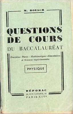 Questions De Cours Du Baccalaureat 2eme Partie