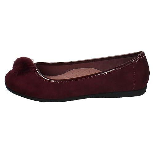 a13844dc4 BONINO 5-B6309B-12 Bailarinas POMPÓN NIÑA Manoletinas  Amazon.es  Zapatos y  complementos