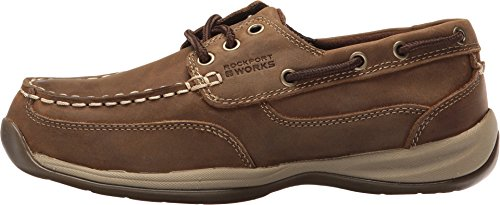 Rockport-Womens-Brown-Leather-Casual-Boat-Shoes-Sailing-Club-Steel-Toe-10-M