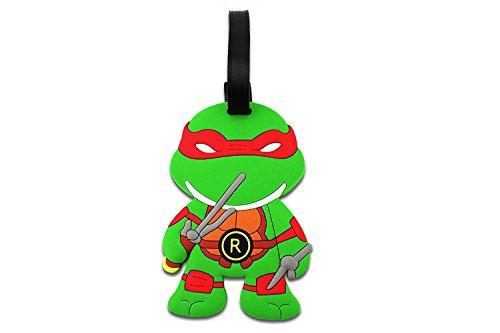 (Teenage Mutant Ninja Turtles Luggage Tag Baggage Tags Id Name Card Suitcase Travel Tag (Red -)