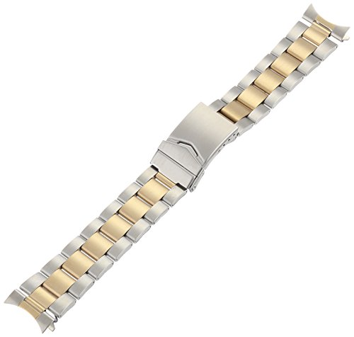 Hadley Roma MB5917RTSandC 20 Gold Plated Two Tone Bracelet product image