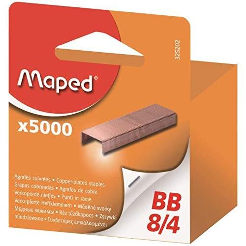MAPED Lot de 3 Btes de 5000 Agrafes BB 8/4 Cuivre