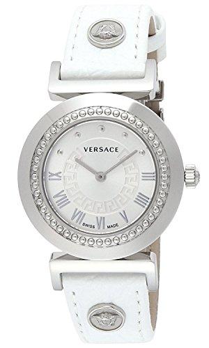 VERSACE watch VANITY white dial calf leather belt P5Q99D001S001 Ladies