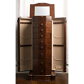 Hives and Honey Henry IV Walnut Jewelry Armoire
