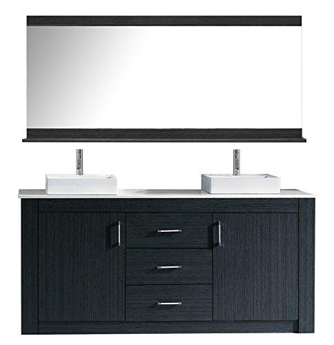 Virtu KD-90072-S-GR Tavian Double Bathroom Vanity Cabinet Set, 72