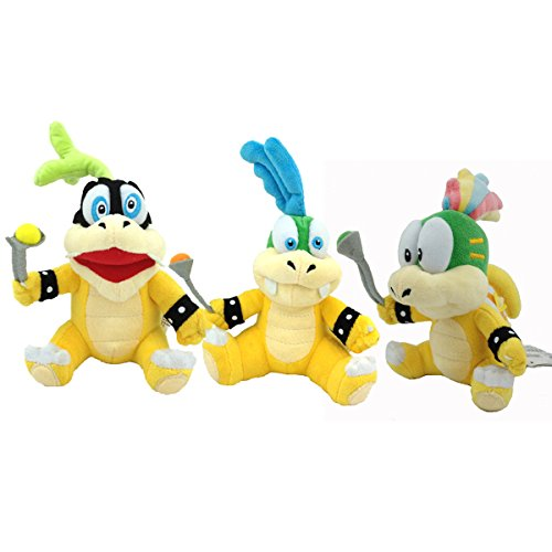 Super Mario Bros Koopalings Larry Iggy Lemmy Soft Plush Toy