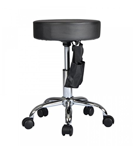 Stool Hydraulic Back Wheels Adjustable Rolling Swivel Bar Counter Office Table Dining Chairs - Acrylic Viva Bar Stool