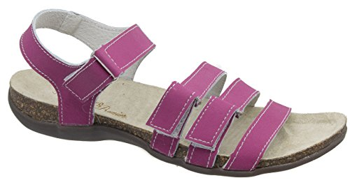 Womens Touch Fastening Leather Sandals / Berry Coolers VIrdwzwfr