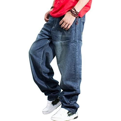 hot sale Beauty Girl Fat Men&39s Plus Size Jeans Trousers Pants
