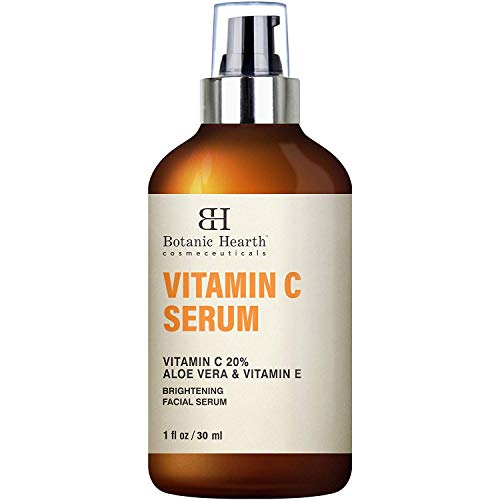 BOTANIC HEARTH Vitamin C Serum for Face - Skin Brightening Facial Serum with Aloe Vera & Vitamin E, Anti Aging, Advanced Skin Care - 1 fl oz