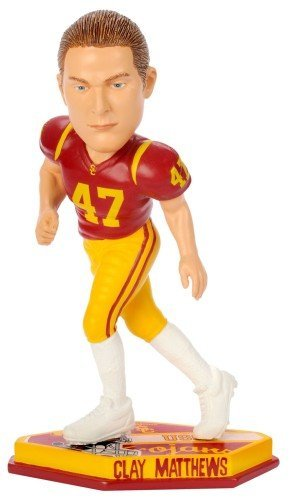 Forever Collectibles 8686704073 USC Trojans Clay Matthews Thematic Base Bobble Head