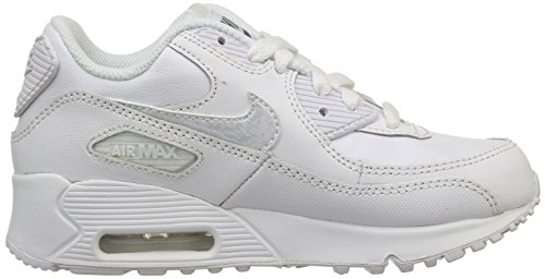 Nike Air Max 90 LTR (GS) Zapatillas de running, Niños Blanco / Gris (White / White-Cool Grey)