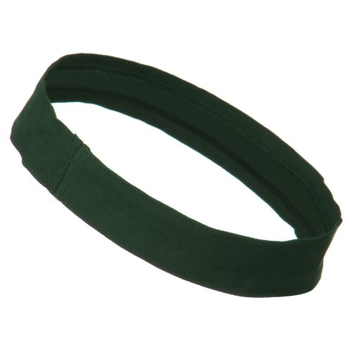 (Cotton Twill Stretchable Hat Band - Dark Green OSFM)